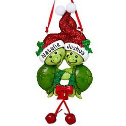 Personalized Two Turtle Family Ornament