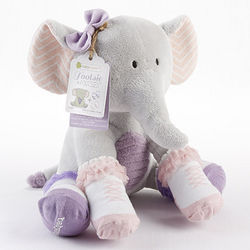 Tootsie in Footsies Plush Elephant with 2 Pairs of Baby Socks