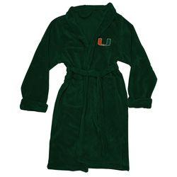 Men's Miami Hurricanes Silk Touch Plush Bath Robe