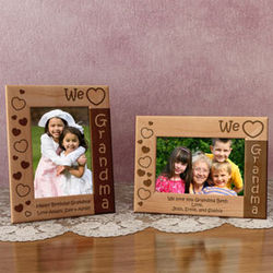 We Love Grandma Wooden Picture Frame