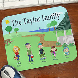 Illustrated Cartoon Character Personalized Mouse Pad