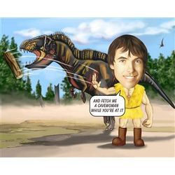 Dinosaur Trainer Caricature Personalized Print
