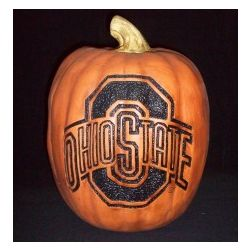 Ohio State Buckeyes Large Resin Pumpkin