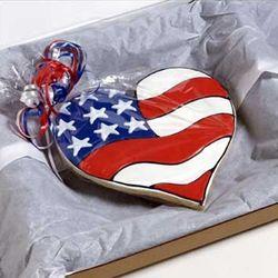 Big Patriotic Heart Cookie