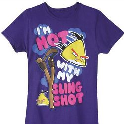 Angry Birds I'm Hot With My Sling Shot Junior Tee