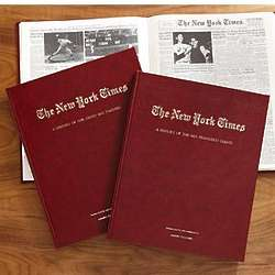 Personalized New York Times History of Baseball Book