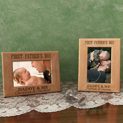 Personalized First Father's Day Wooden Picture Frame
