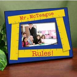 My Teacher Rules Personalized Frame