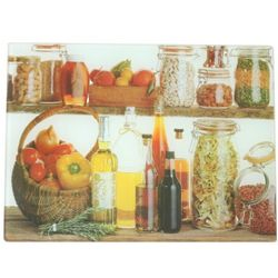 Oil and Spice Design Glass Cutting Board