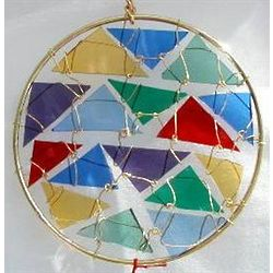 "5"" Round Stained Glass Suncatcher"