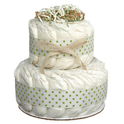 Mini Green 2 Tier Organic Diaper Cake