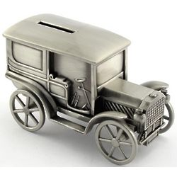 Engraved Ole Time Motor Car Bank