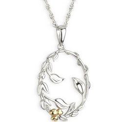 Sterling Silver Irish Shamrock Bud Pendant with Chain