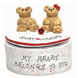 Bear Couple on a Personalized Trinket Box