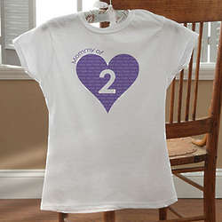 Number of Children Personalized Women's Fitted T-Shirt
