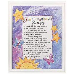 10 Commandments for Kids Print