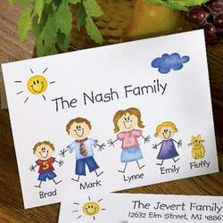 Family Of Characters Note Cards and Envelopes