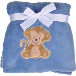Sitting Monkey Plush Blanket