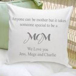 Personalized You are a Special Mom Throw Pillow