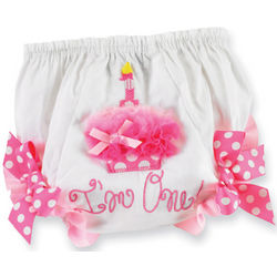 First Birthday Baby Girl Bloomers