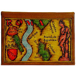 Map of Rome Leather Photo Album