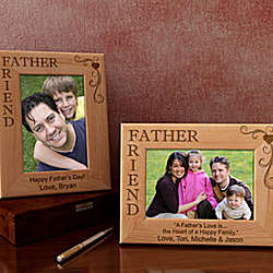 Personalized Father & Friend Wooden Picture Frame