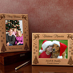Personalized Christmas Memories Wooden Picture Frame