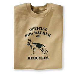 Personalized Official Dog Walker Sweatshirt