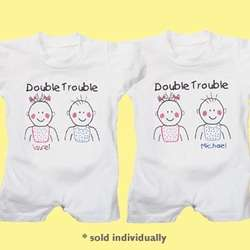 Personalized Double Trouble T-Romper