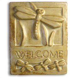 Dragonfly Ceramic Welcome Sign