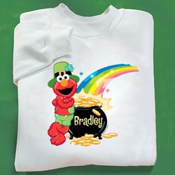 Personalized Elmo St. Patrick's Adult Sweatshirt