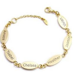 Personalized Family Bracelet with Diamond Accent