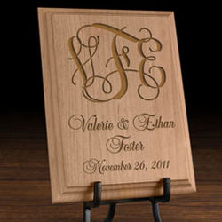 Personalized Monogram Wooden Plaque