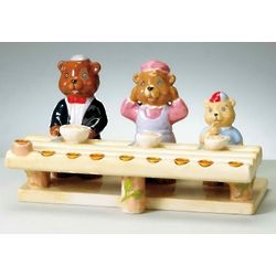 Three Bears Hand-Painted Menorah