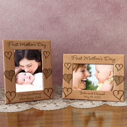 Personalized First Mother's Day Wooden Picture Frame