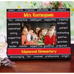 Printed Personalized Teacher Frame