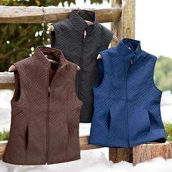 Women's Quilted Microfiber Zip Front Vest