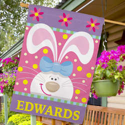 Easter Bunny Personalized House Flag
