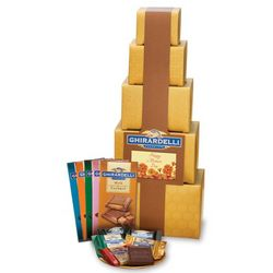 Mother's Day Chocolate Gold Gift Tower