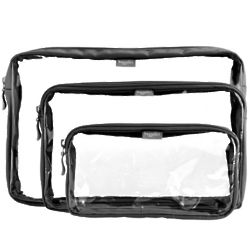 Clear Trio Cosmetic Bags