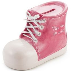 Girl's Bootie Hand-Painted Bank