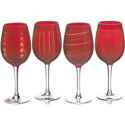 Cheers Ruby Collection Wine Glasses