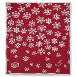 Snowflake Jacquard Personalized Christmas Blanket