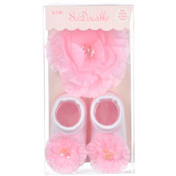 Baby's Rose Headband and Sock Booties