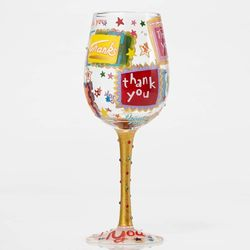 Thank You Stars Wine Glass