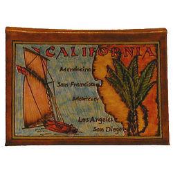Map of California Leather Photo Album