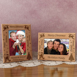 Personalized Christmas Wooden Picture Frame