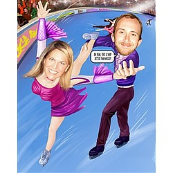 Skating Caricature from Photos