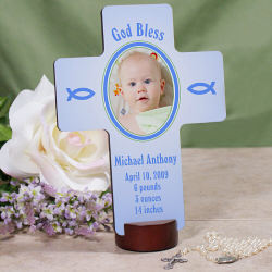 Personalized Newborn Baby Photo Wall Cross