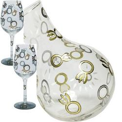 Wedding Toast Wine Glasses & Decanter Set